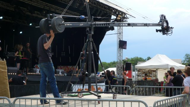 Camera man using Cranes for Film Production